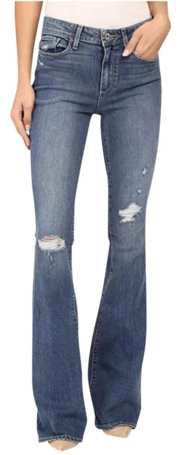 Item - Gia Destructed Distressed Bell Canyon High Rise Flare Leg Jeans Size 25 (2, XS)