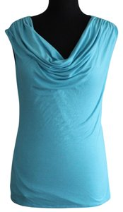 Studio Y Swoop Neck Top Turquoise