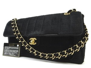 Chanel Pony Hair Ponyhair East West Classic Flap Shoulder Bag