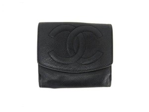 Chanel CC Caviar Leather Square Wallet 215388
