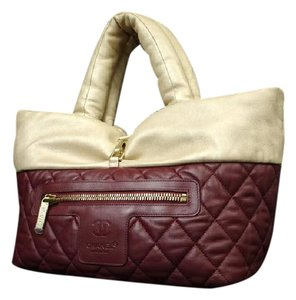 Chanel Reversible Quilted Jumbo Cocoon Puffy Tote in gold x Red