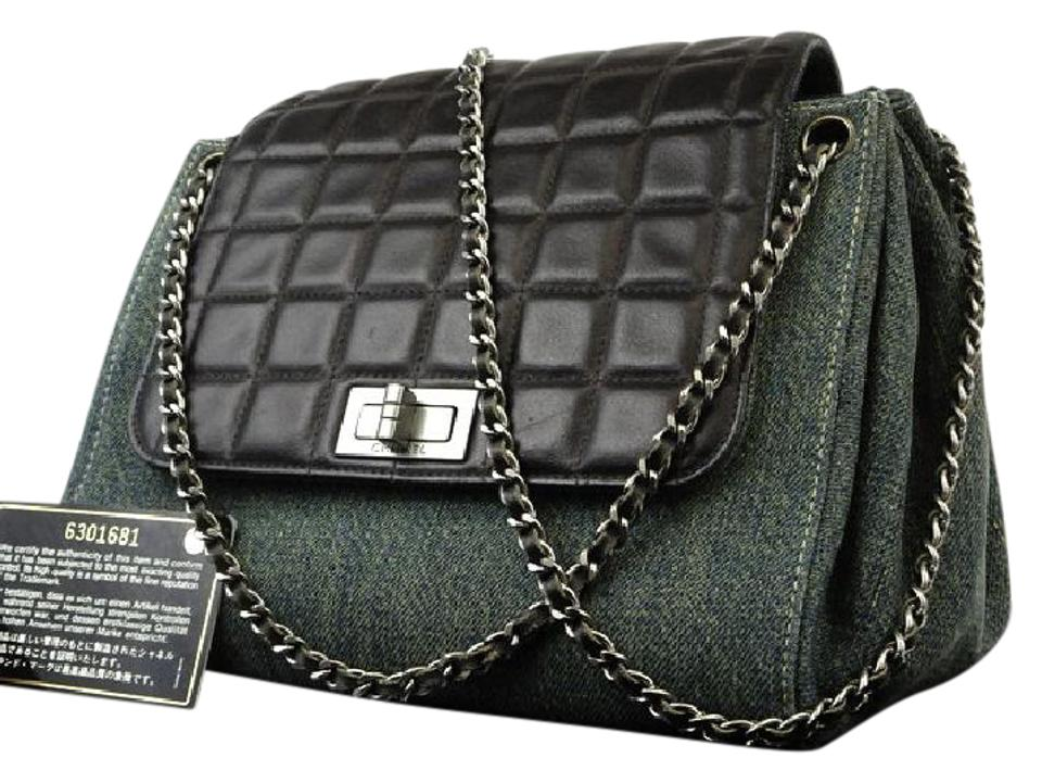 2a790efeb7cf Chanel Quilted Chocolate Bar Denim Jean Classic Flap Shoulder Bag Image 0  ...