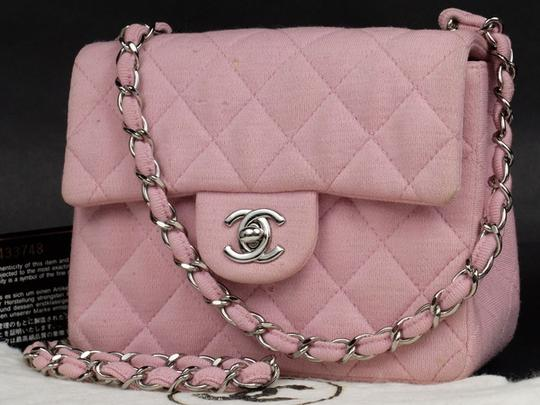 Chanel Jersey Cotton Canvas Crossbody Wallet On Chain Shoulder Bag Image 1