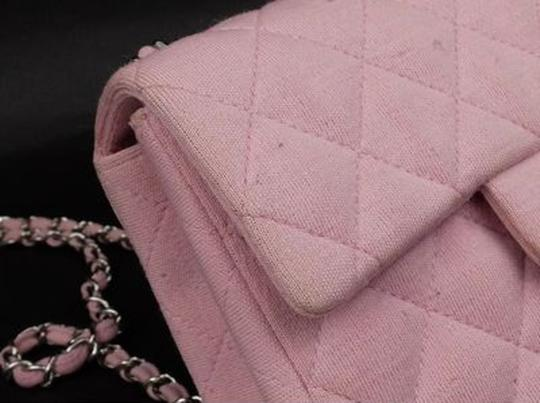 Chanel Jersey Cotton Canvas Crossbody Wallet On Chain Shoulder Bag Image 10