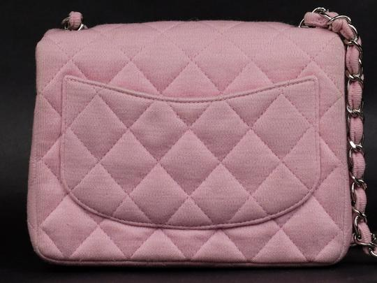 Chanel Jersey Cotton Canvas Crossbody Wallet On Chain Shoulder Bag Image 2