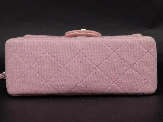 Chanel Jersey Cotton Canvas Crossbody Wallet On Chain Shoulder Bag Image 5