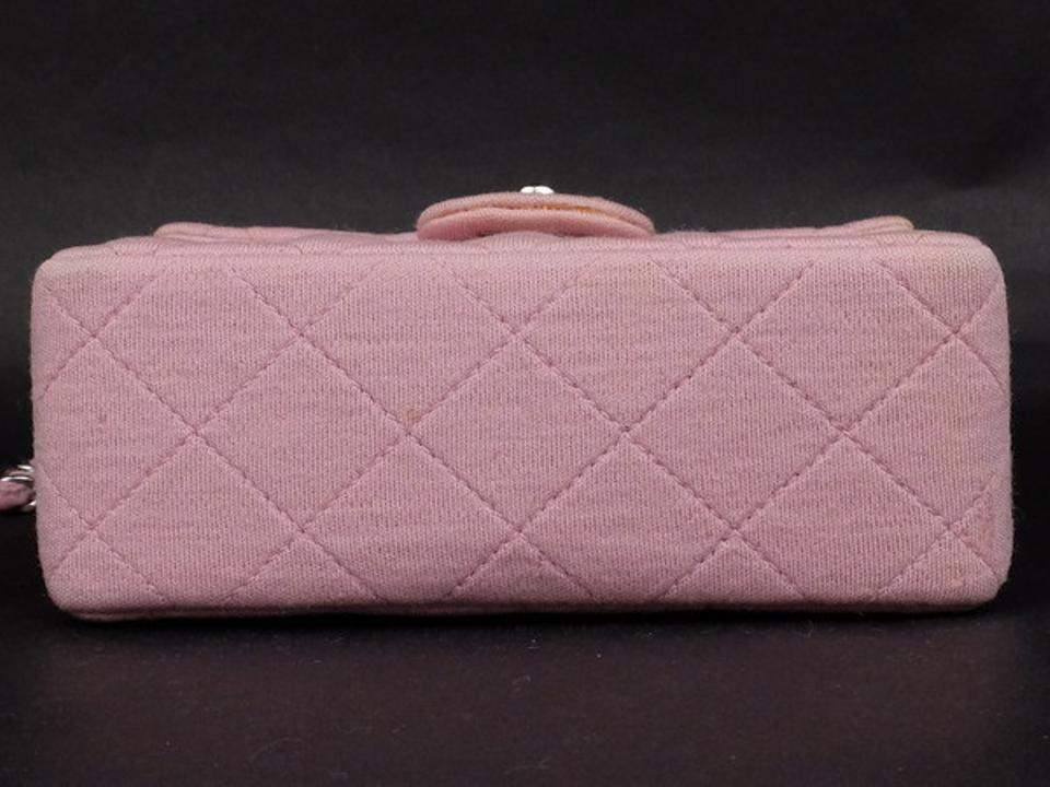 bfd687fd2fc1 Chanel Classic Flap Quilted Canvas Mini Square Crossbody 215367 Pink Cotton Shoulder  Bag - Tradesy