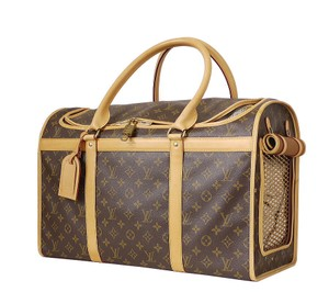 Louis Vuitton Dog Carrier Cat Carrier Pet Carry Brown Travel Bag