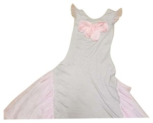 Gray and pink Maxi Dress by Mia Belle Baby