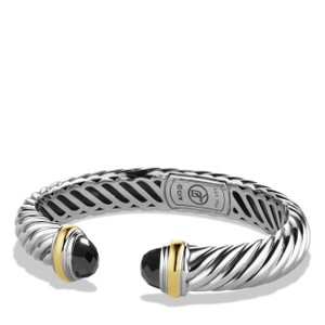 David Yurman David Yurman Waverly Gold and Black Onyx Cuff