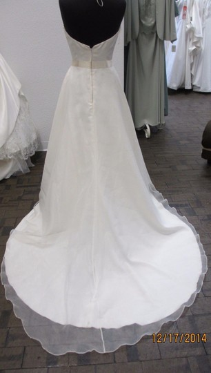 Mikaella Bridal Ivory Satin and Organza Gown-style 1338- Ivory/Natural #91l Modern Wedding Dress Size 12 (L) Image 2
