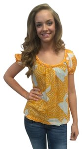 Trina Turk Top Yellow/white