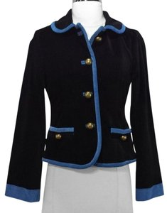 Marc Jacobs Velvet Black Jackets Black/Blue Blazer