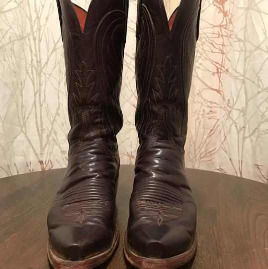 Lucchese Chocolate Brown Boots Image 1