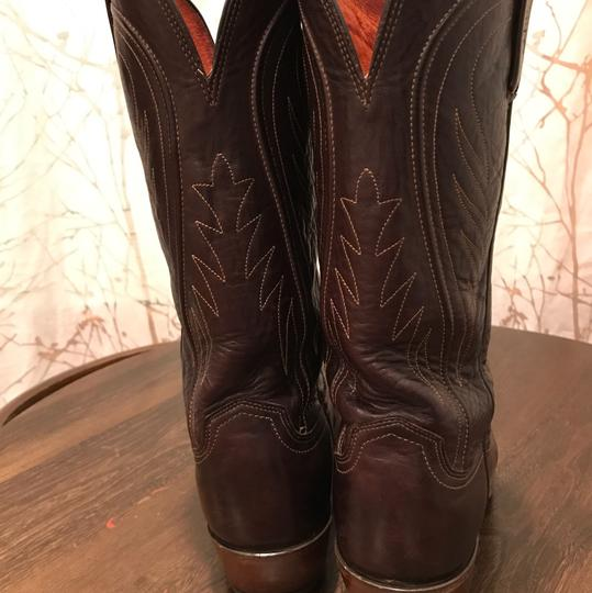 Lucchese Chocolate Brown Boots Image 2