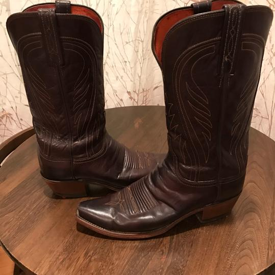 Lucchese Chocolate Brown Boots Image 3