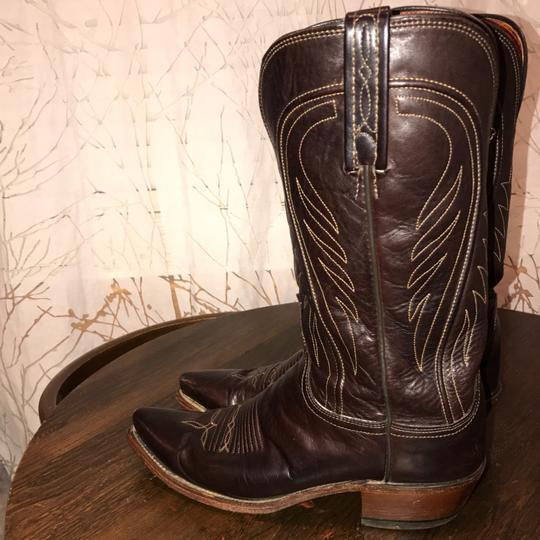 Lucchese Chocolate Brown Boots Image 7
