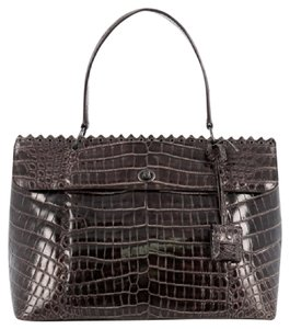 Bottega Veneta Crocodile Satchel in Brown