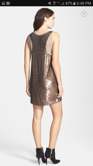 Nicole Miller Sequin Silk Shift Ombre Glowing Dress Image 1