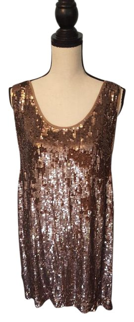 Nicole Miller Sequin Silk Shift Ombre Glowing Dress Image 2