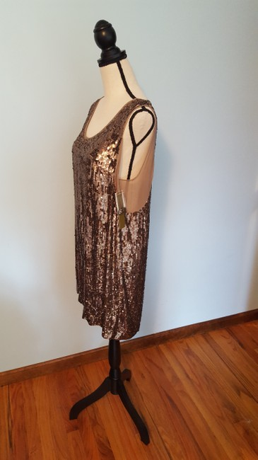 Nicole Miller Sequin Silk Shift Ombre Glowing Dress Image 4