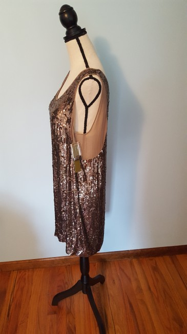 Nicole Miller Sequin Silk Shift Ombre Glowing Dress Image 5