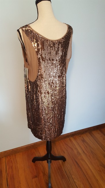Nicole Miller Sequin Silk Shift Ombre Glowing Dress Image 6