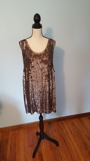 Nicole Miller Sequin Silk Shift Ombre Glowing Dress Image 7