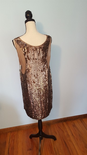 Nicole Miller Sequin Silk Shift Ombre Glowing Dress Image 8