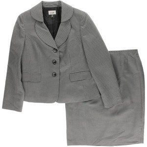 Le Suit Le Suit Quebec New Womens Gray Skirt Suit 16
