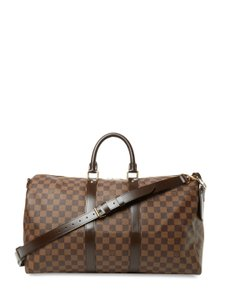 Louis Vuitton Vintage Designer Tote Brown Travel Bag