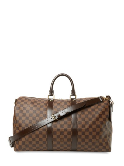 Preload https://img-static.tradesy.com/item/20855515/louis-vuitton-bandouliere-45-damier-ebene-brown-leather-weekendtravel-bag-0-0-540-540.jpg