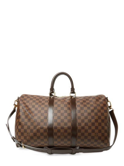 Louis Vuitton Vintage Designer Tote Brown Travel Bag Image 1