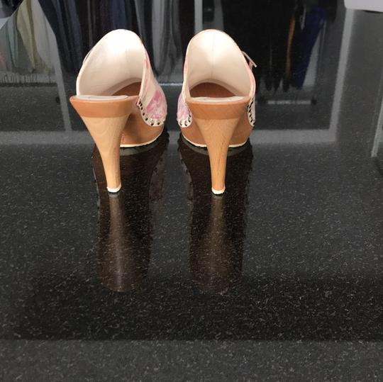 Dior blush rose pink and off white with silver detail buckle Mules Image 3
