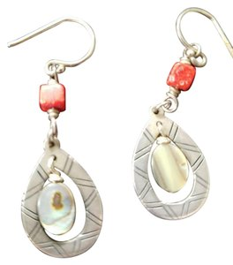 Silpada Silpada Earrings-Coral, Pearl Fish Hook