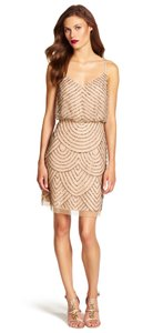 Adrianna Papell Embellished Beaded Short Dress