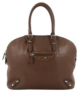 Balenciaga Leather Satchel in Brown