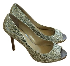 Enzo Angiolini Metallic--silver with gold detail Pumps