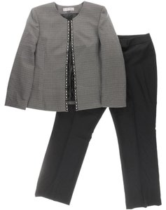 Tahari Tahari ASL Rob Brown/Black/White Tweed Pant Suit 6