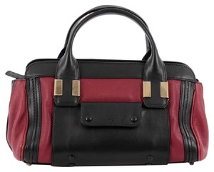 Chloé Chloe Leather Satchel in Red and Black