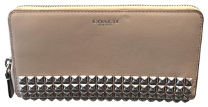 Coach coach leather white studded wallet NWT