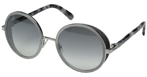 Jimmy Choo Jimmy Choo Andie/S Sunglasses Gray Mirror Shaded Silver Lens