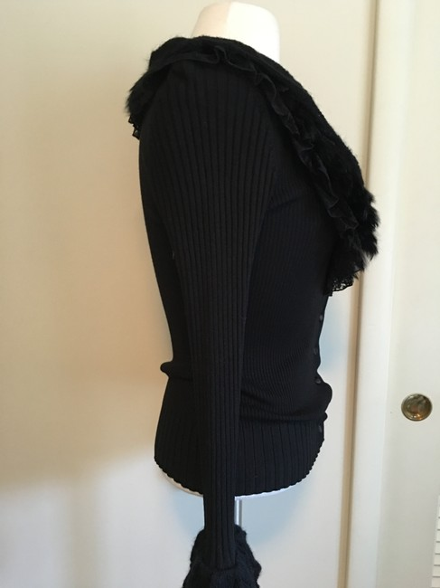 Dolce Cabo 3 Layer Ruffle Longsleeve 7 Button Cardigan Image 2