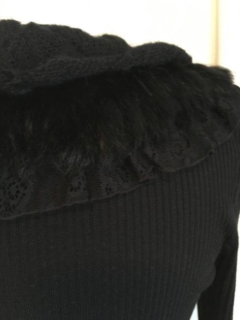 Dolce Cabo 3 Layer Ruffle Longsleeve 7 Button Cardigan Image 4
