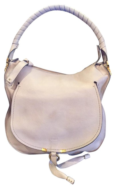 Item - Marcie Pure Nude Abstract White Leather Hobo Bag