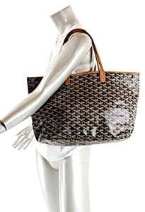 Goyard St Louis Bergdorf Goodman Handpainted Tote in Black and Brown