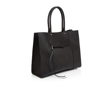 Rebecca Minkoff Mab Saffiano Leather Large Tote in BLACK