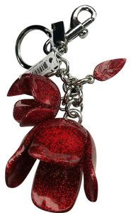 Coach COACH Glitter Rose Bag Charm