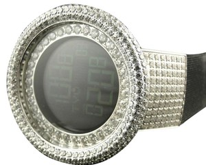 Techno Com by KC 52MM TECHNO COM KC JOE RODEO SIMULATED CLEAR DIAMOND WATCH 20 CT