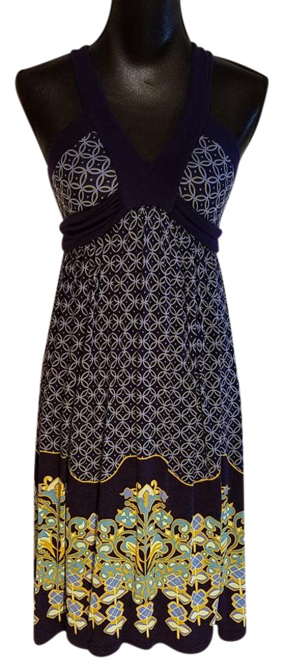 5552a762129a Deletta Multi-colored Anthropologie Sleeveless Tie Waist Casual Dress